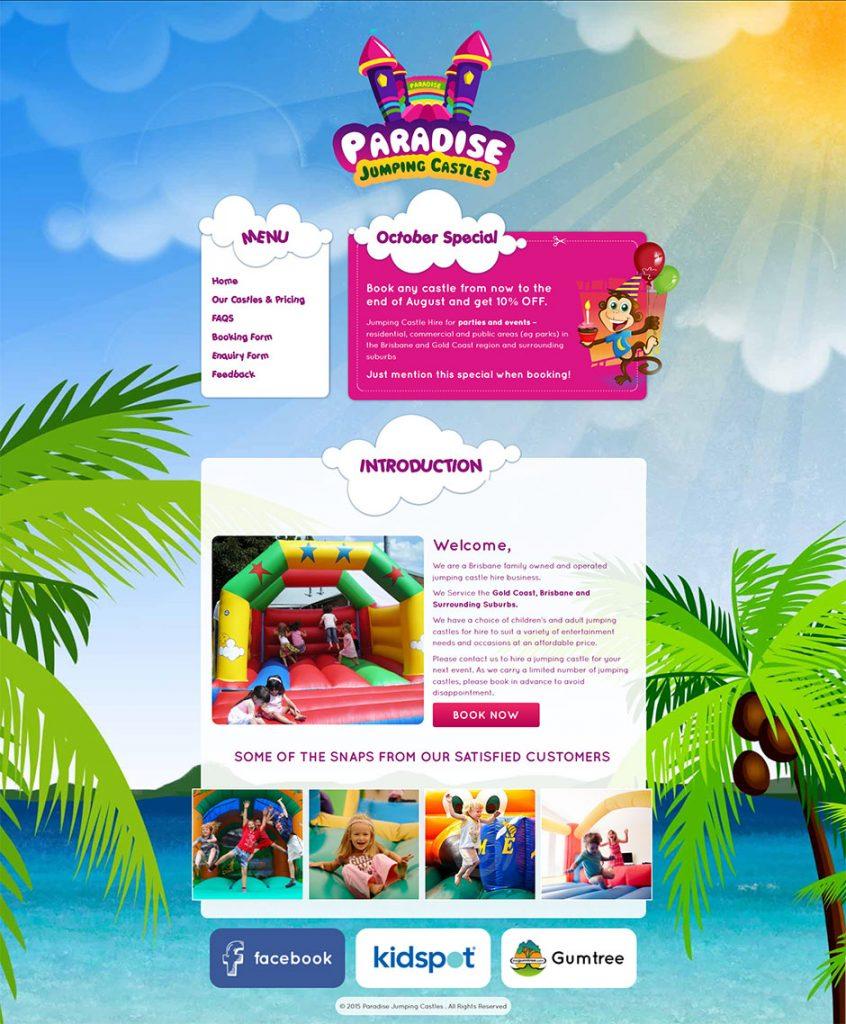 Jumping-Castle-Website-Design