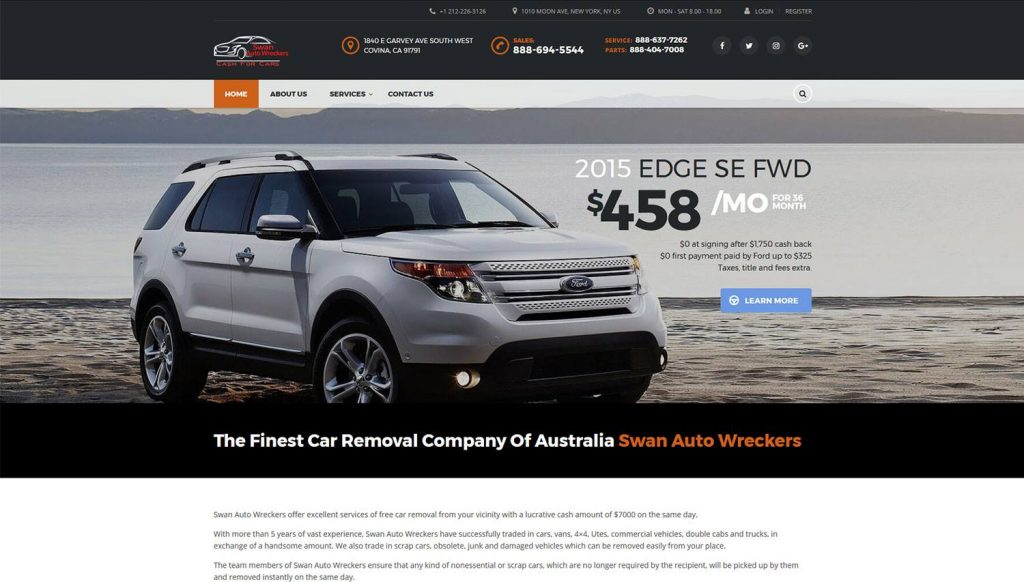 Swan-Auto-Wreckers-Web-Design