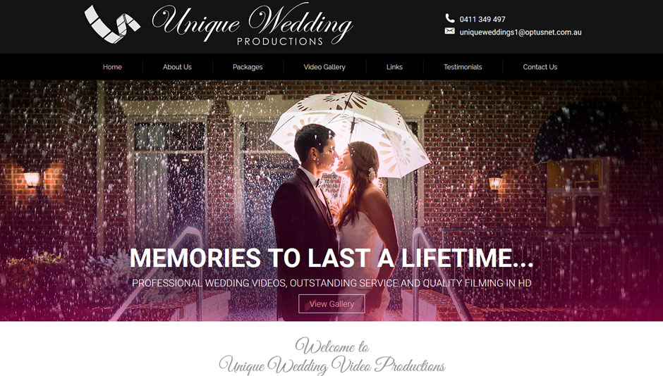 Unique-Wedding-Production-Website-Design