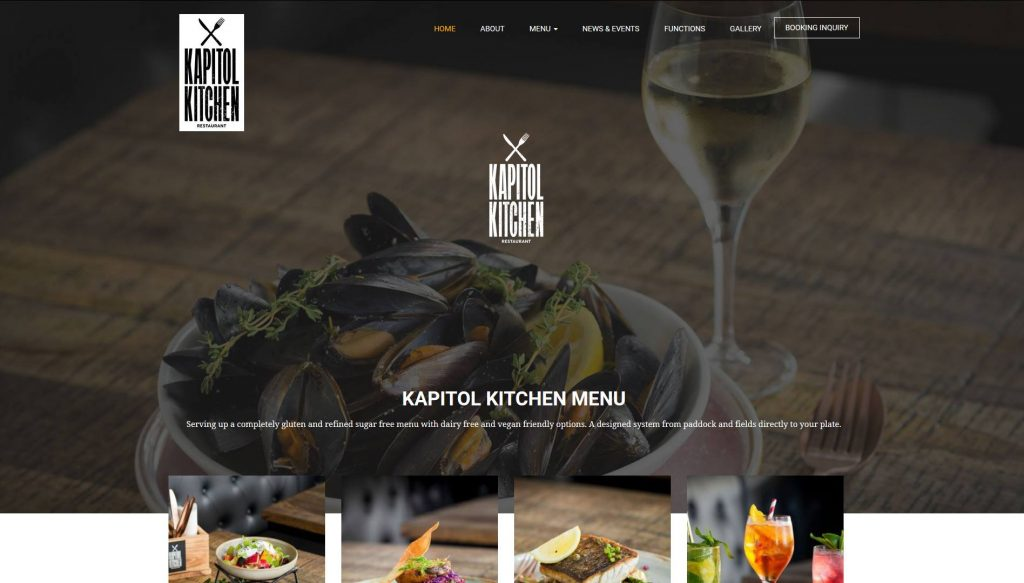 Cafe Website Design